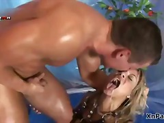 Pissed on blonde whore... video