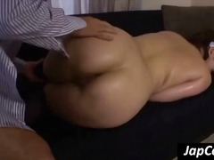 Chubby Asian maid stic...