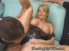 wife, voyeur, share, blonde, fan, pussy