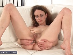 couch, solo, babe, redhead, brunette,