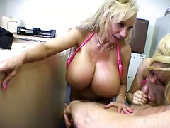 Big titted blond cock ... video