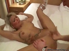 milf, blonde, fisting, k.d., tattoo