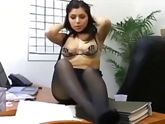 Office sex with a busty secretary in ...