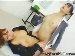Futanari Tastes Own Cu... video