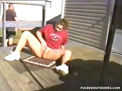 bbw, public nudity, cream pie,