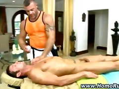 Muscular gay intimate massage