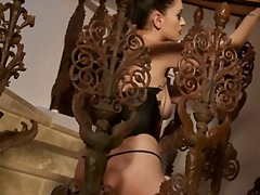 Xhamster Movie:Brook vinyl and boots