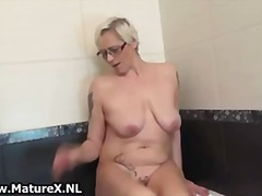 wife, mature, masturbation, solo,