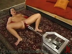 machine, dildo, solo, masturbation,