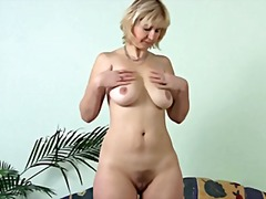 Thumb: Mature Masturbating on...
