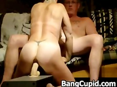 homemad, blowjob, dildo, couple, toy