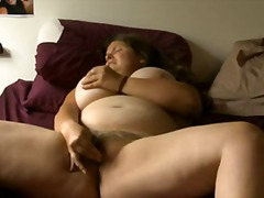 Bbw girl with glass ma...