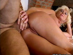 blowjob, older, blonde, anal, mature,