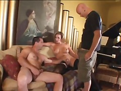 mature, anal, threesome, shemale