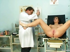 speculum, hospital, czech, gaping