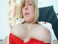 blonde, kinky, milf, speculum, old, clinic, bizarre, mature, uniform, closeups, busty, pussy, pussy-spreading, nurse, big boobs, sex toys, fetish, stockings