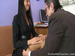 Jenny takes teacher's giant thang and has an incredible orgasm.