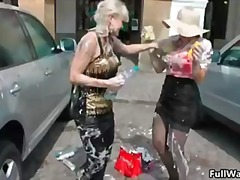 Two horny babes getting all messy part5