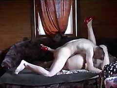 Russian Sexy Mom Gives Head