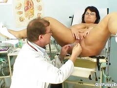 doctor, speculum, mature,