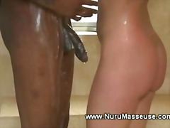 Thumb: Black guy enjoys his m...