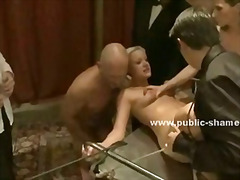Indian girl gets abused by horny men and women and gets her wholes stratched by meaty cocks