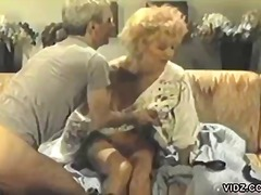 Mature couple enjoys a...