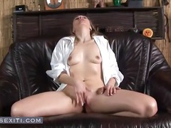 masturbating, blonde, toys, young,