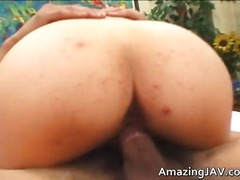 Amazing busty asian babe getting fucked