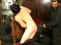 Tattooed arse, red str... preview