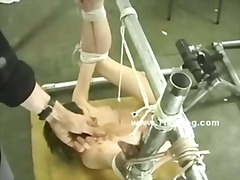 Thumb: Blonde gets bound in r...