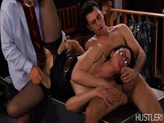 Rough group sex with h... video