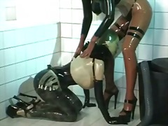anal, strapon, latex