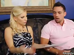 Hot Blonde Ashley Fires sucks and fuc...