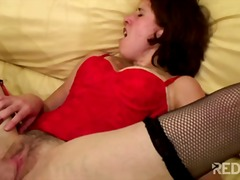 Red lingerie for this ... video