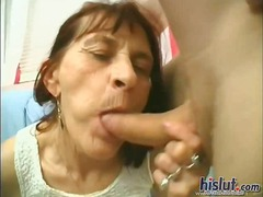 suck, brunette, blowjob, granny