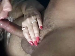 busty, blonde, blowjob, suck, mature