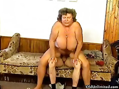 Dirty grandma with big... video