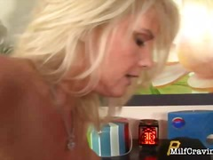 Blonde milf gets dicked