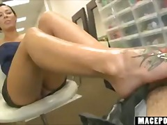 rachel starr,  fetish, footjob,