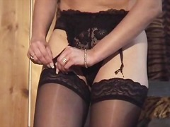 milf, fetish, stockings, blonde