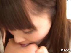 Horny japaneses kissin... video