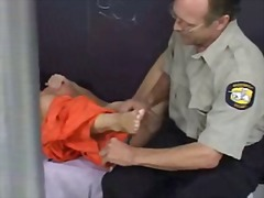 Jail footjob video