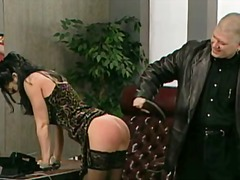 office, couple, stockings, spanking,