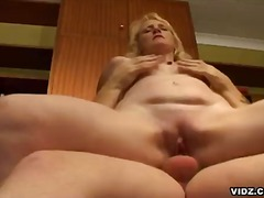 Nasty blonde mature sl...