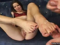 brunette, pussy, shaved pussy, rough fuck, footjob, big dick, big cock, hardcore, doggy style, feet licking, babe, beauty, sexy feet, cowgirl, 10 inch, big ass, foot fetish