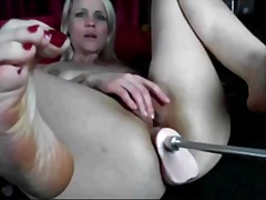 Milf blonde Anal with fuckin machine