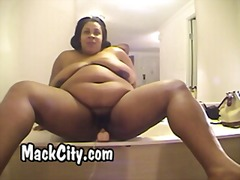 BBW hood freak with big tits rides di...
