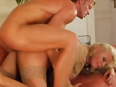 Blonde mom and young boy video