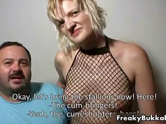 cumshot, group sex, blonde, gangbang, spanish, mature, bukkake, blowjob, facial